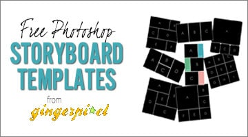 8 Free Photoshop Collage Templates from Gingerpixel Photography - Flourish - PF
