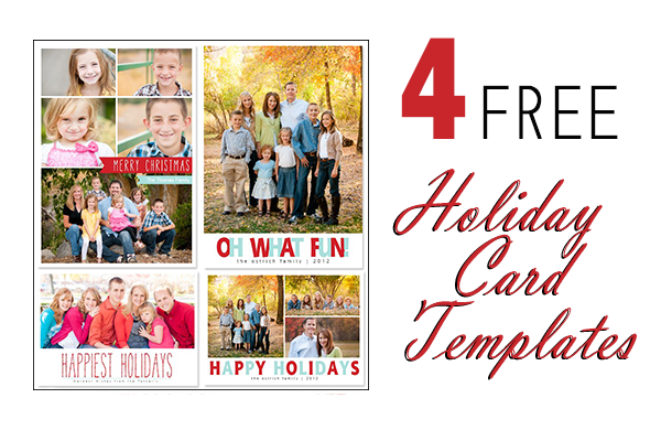 Free Photoshop Holiday Card Templates from Mom and Camera ...