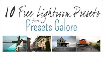10 Free Lightroom Presets from Presets Galore