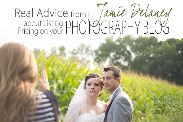 Real Advice about Listing Pricing on your Photography Blog