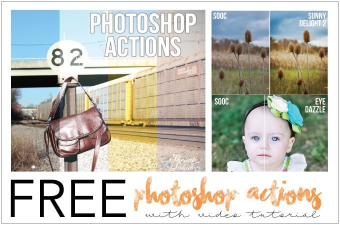 Free Photoshop Actions from A Twisted LenZ with Bonus Video Tutorial from Shrimp Salad Circus