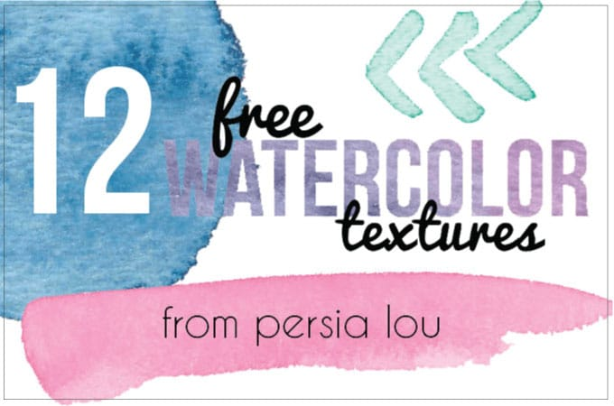 12 Free Watercolor Textures from Persia Lou