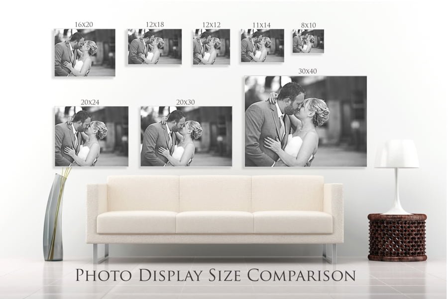 Photo Display Size Comparison Flourish Free Resources