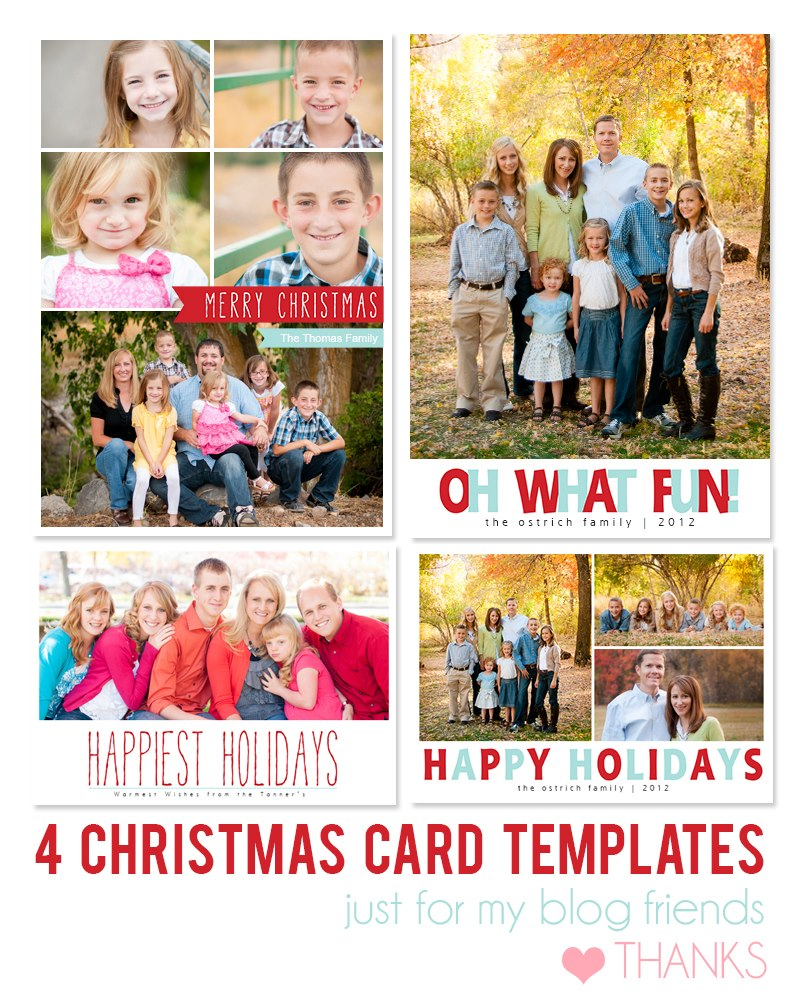 free photoshop holiday card templates mom and camera example - Photoshop Christmas Card Templates