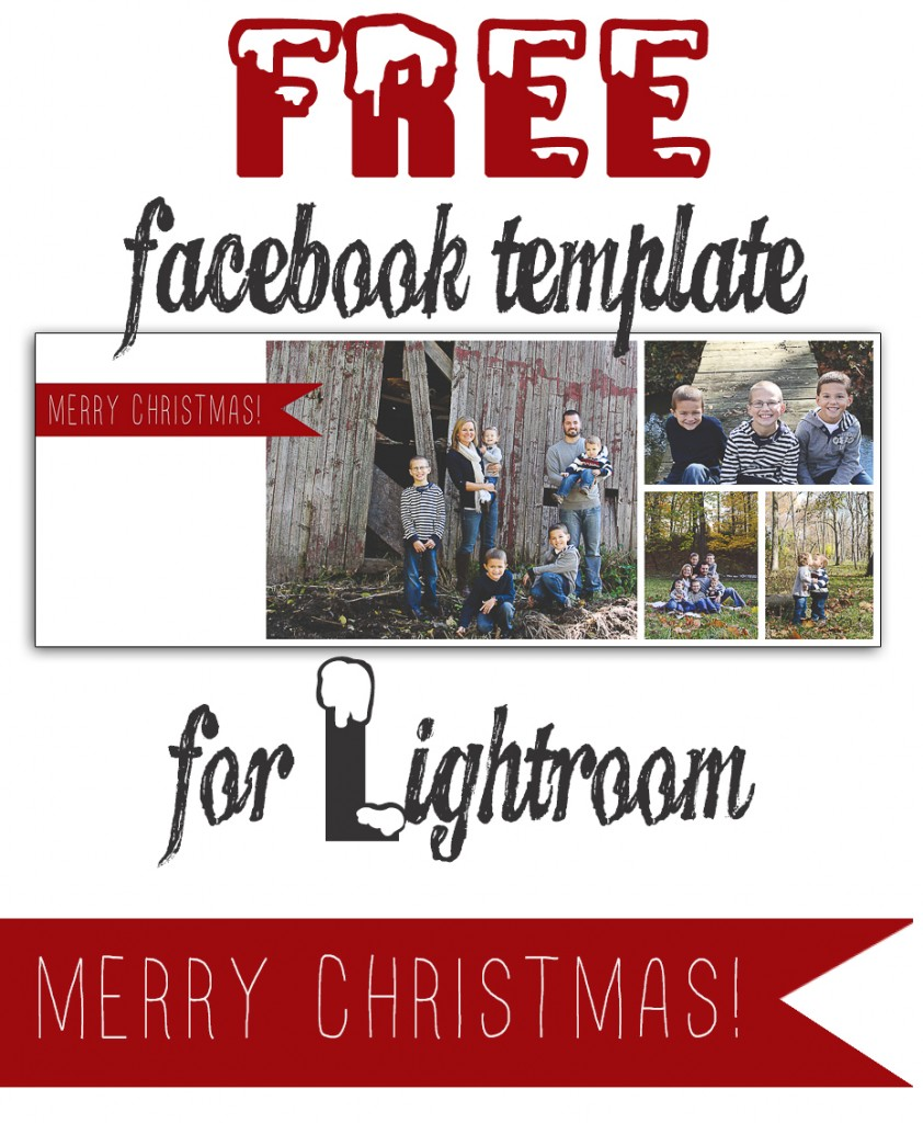 Free Christmas Holiday Facebook Timeline Lightroom Templates - Pinterest