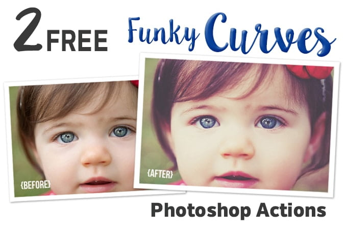 FREE Funky Curves Photoshop Action Set from Polished Picture
