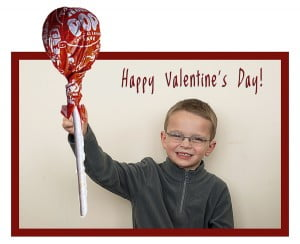 Free Valentine Card Lightroom Template - Photoshop-Happy Valentine's Day - Lollipop