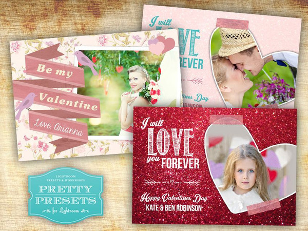free valentines day cards photoshop templates