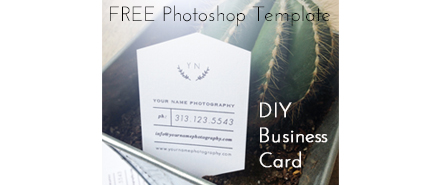 Free Photoshop Template - DIY Business Card - Lens Theory -PF