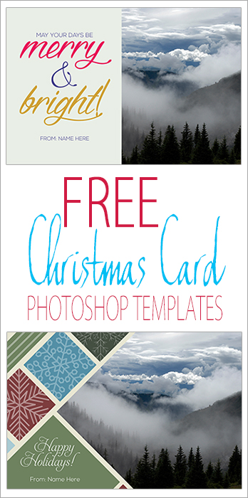 Free Photoshop Christmas Card Templates - Jess Creatives - Pinterest