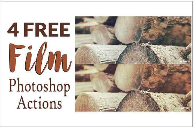 4 Free Film Photoshop Actions from Filtergrade