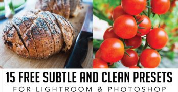 15 Free Subtle and Clean Processing Presets for Lightroom and Photoshop