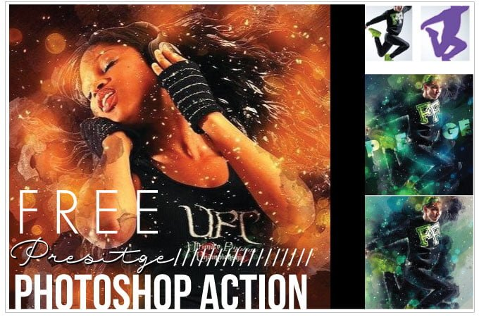 Free Prestige Photoshop Action Texture from aidownload