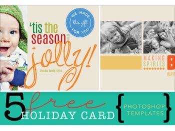 5 free holiday card photoshop templates