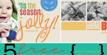 Free Holiday Card Photoshop Templates by Creativelive
