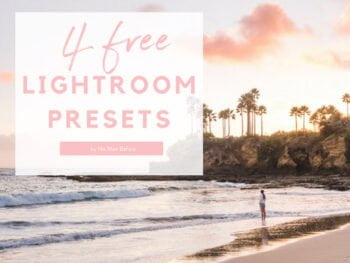 4 Free Lightroom Presets from No Man Before