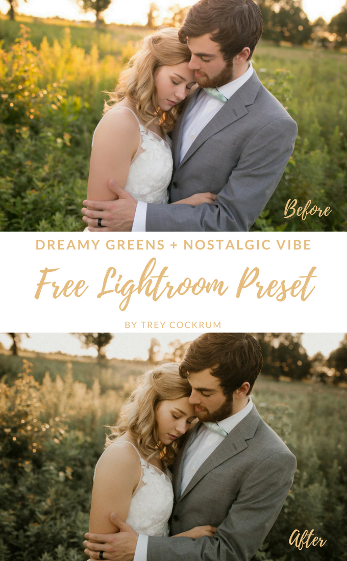 Free Dreamy Greens Nostalgic Vibe Lightroom Preset Pin