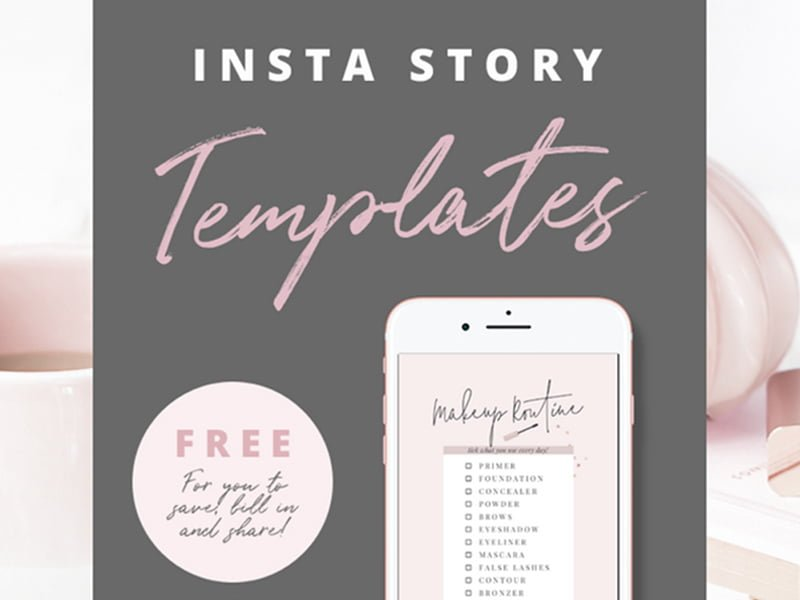 Free Template for Instagram Stories
