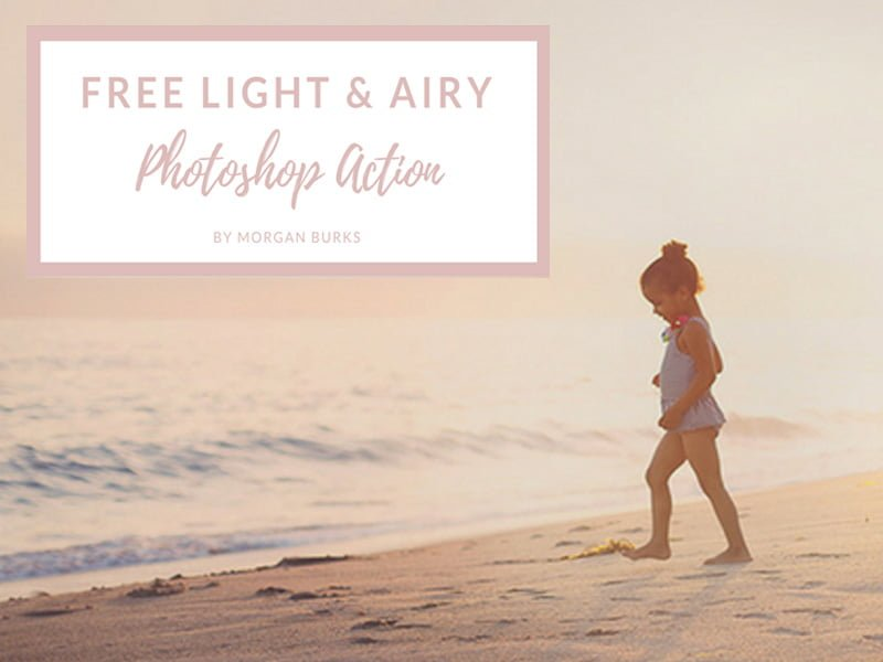 Free Light and Airy Photoshop Action