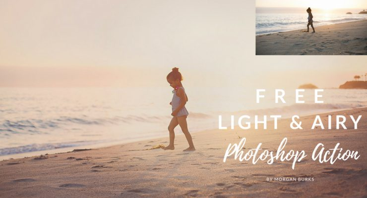 Free Light and Airy Photoshop Action by Morgan Burks