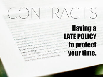 Photography Session Contract Late Policy